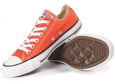 Chaussures Converse Chuck Taylor All-Star Canvas OX orange vue intérieure