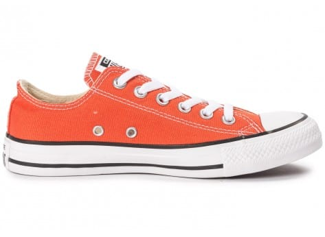 Chaussures Converse Chuck Taylor All-Star Canvas OX orange vue dessous