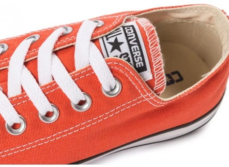 Chaussures Converse Chuck Taylor All-Star Canvas OX orange vue dessus