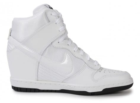 new concept 243f0 52c9f ... chaussures nike dunk sky hi essential blanche vue interieure