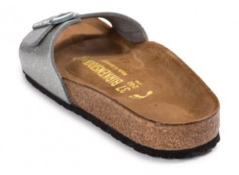 Chaussures Birkenstock Madrid Galaxy Silver vue arrière