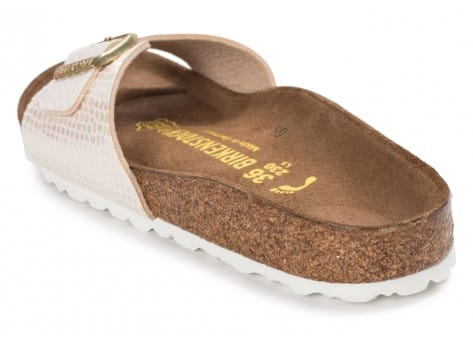 Chaussures Birkenstock Madrid Shiny Snake cream vue arrière