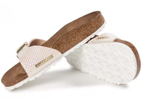 Chaussures Birkenstock Madrid Shiny Snake cream vue intérieure