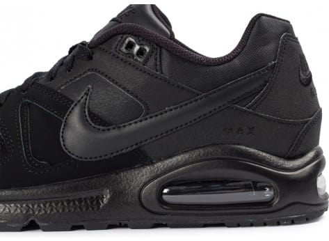 Chaussures Nike Air Max Command Leather noir vue dessus