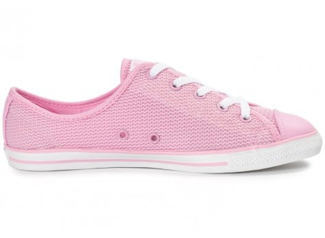 Chaussures Converse Chuck Taylor All-Star OX Dainty rose vue intérieure