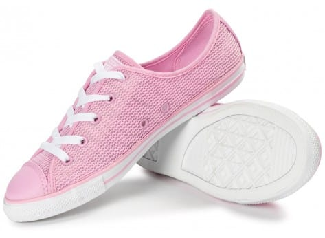 Chaussures Converse Chuck Taylor All-Star OX Dainty rose vue dessous