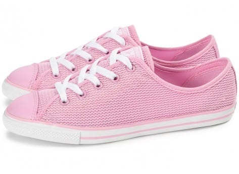 Chaussures Converse Chuck Taylor All-Star OX Dainty rose vue extérieure