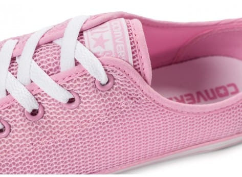 Chaussures Converse Chuck Taylor All-Star OX Dainty rose vue dessus