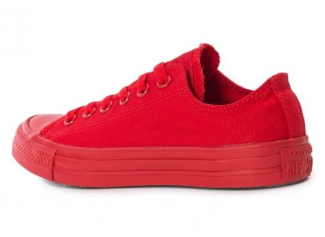 Chaussures Converse Chuck Taylor All Star Mono OX rouge vue arrière