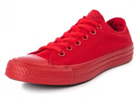 Chaussures Converse Chuck Taylor All Star Mono OX rouge vue avant