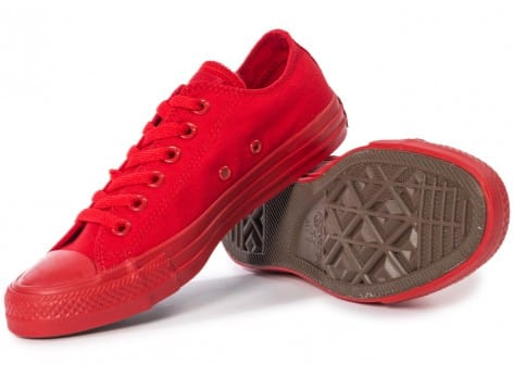 Chaussures Converse Chuck Taylor All Star Mono OX rouge vue intérieure