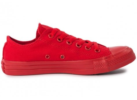 Chaussures Converse Chuck Taylor All Star Mono OX rouge vue dessous