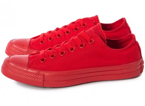 Chaussures Converse Chuck Taylor All Star Mono OX rouge vue extérieure