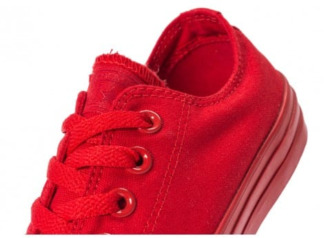 Chaussures Converse Chuck Taylor All Star Mono OX rouge vue dessus