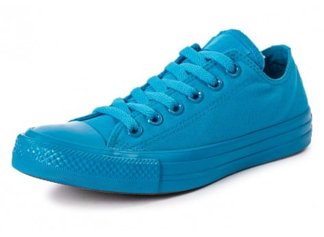 Chaussures Converse Chuck Taylor All Star Mono OX Paint blue vue avant