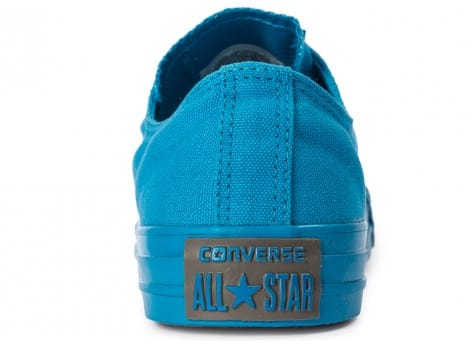 Chaussures Converse Chuck Taylor All Star Mono OX Paint blue vue dessus