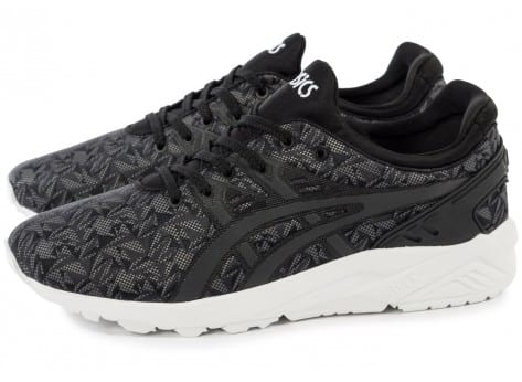 Chaussures Asics Gel Kayano Trainer Evolution Origami anthracite vue extérieure