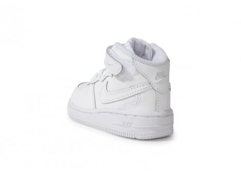 Chaussures Nike Air Force 1 Mid Blanche vue arrière