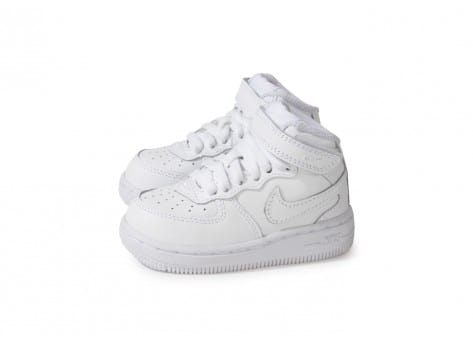 Chaussures Nike Air Force 1 Mid Blanche vue extérieure