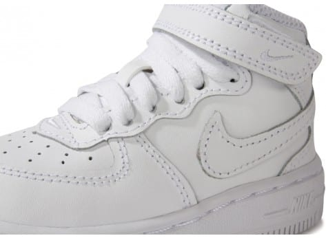 Chaussures Nike Air Force 1 Mid Blanche vue dessus