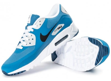 Chaussures Nike Air Max 90 Ultra Essential bleue vue intérieure