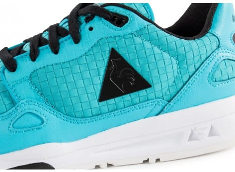 Chaussures Le Coq Sportif LCS R900 Woven turquoise vue dessus