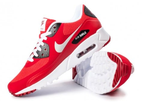 Chaussures Nike Air Max 90 Ultra Essential rouge vue dessous
