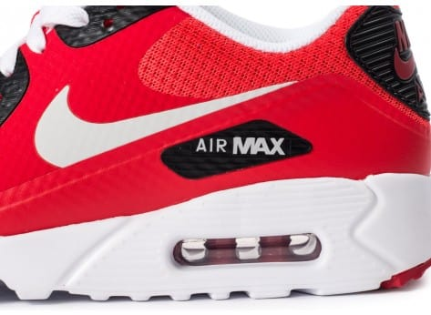 Chaussures Nike Air Max 90 Ultra Essential rouge vue dessus