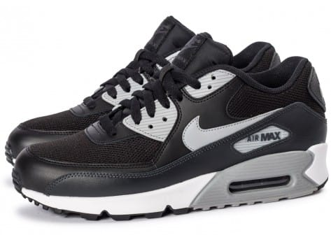 Chaussures Nike Air Max 90 Essential black wolf grey vue extérieure