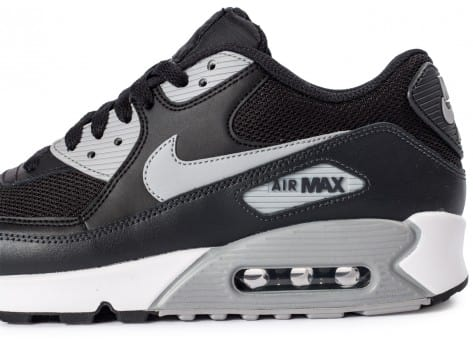 Chaussures Nike Air Max 90 Essential black wolf grey vue dessus