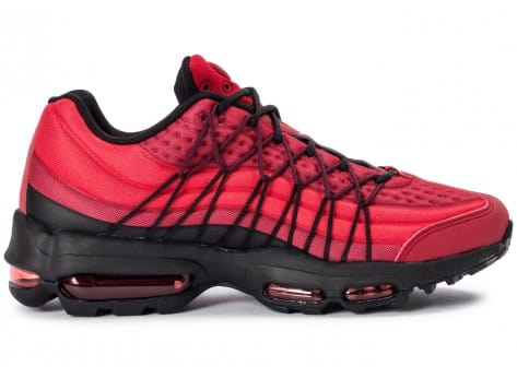 Chaussures Nike Air Max 95 Ultra SE rouge vue dessous