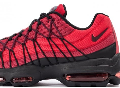 Chaussures Nike Air Max 95 Ultra SE rouge vue dessus