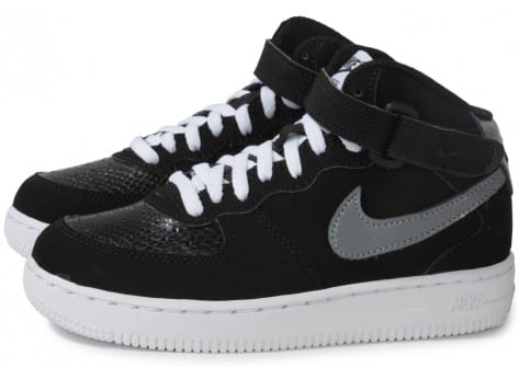 Nike Air Force 1 Mid Chaussures Noir Gris