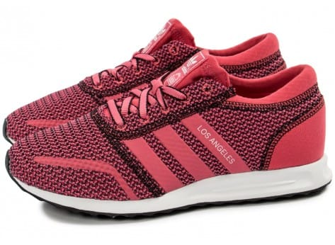 Chaussures adidas Los Angeles rose vue extérieure