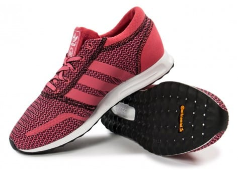 Chaussures adidas Los Angeles rose vue intérieure