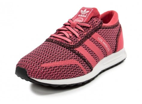 Chaussures adidas Los Angeles rose vue avant