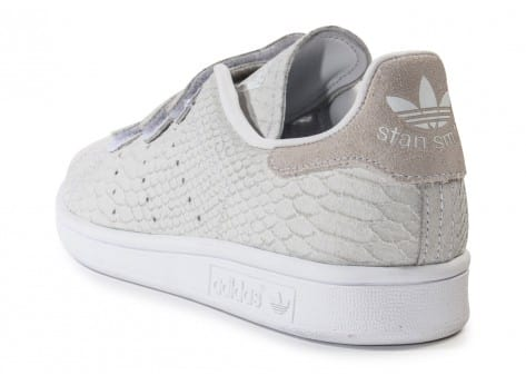 Chaussures adidas Stan Smith Cf Velcro grise vue arrière