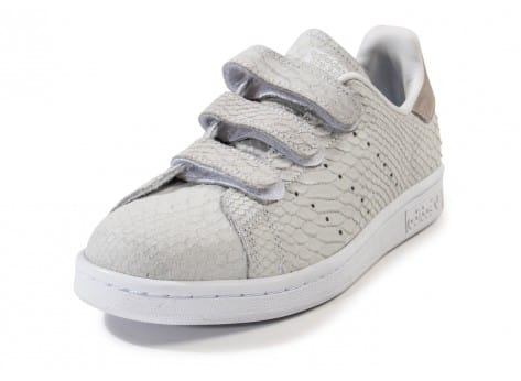 Chaussures adidas Stan Smith Cf Velcro grise vue avant