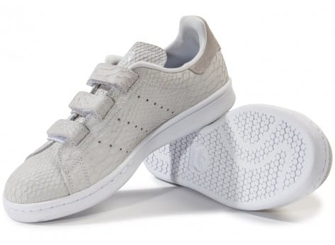 Chaussures adidas Stan Smith Cf Velcro grise vue intérieure