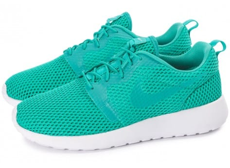 Chaussures Nike Roshe One Hyperfuse BR vert vue extérieure