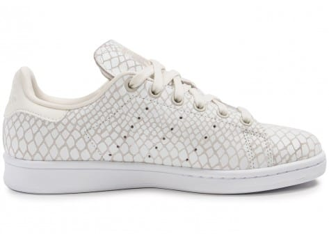 Chaussures adidas Stan Smith Snake blanche vue dessous