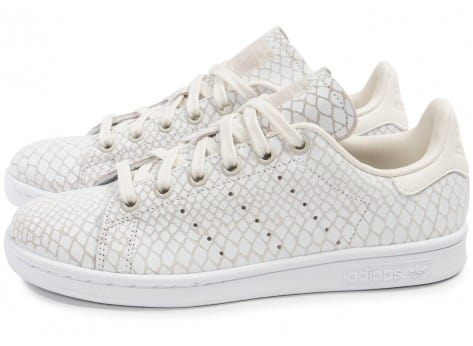 Chaussures adidas Stan Smith Snake blanche vue extérieure