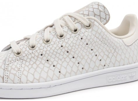 Chaussures adidas Stan Smith Snake blanche vue dessus