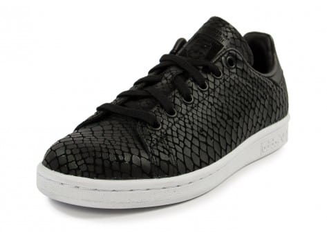 Chaussures adidas Stan Smith Snake noire vue avant