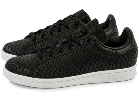 Chaussures adidas Stan Smith Snake noire vue extérieure