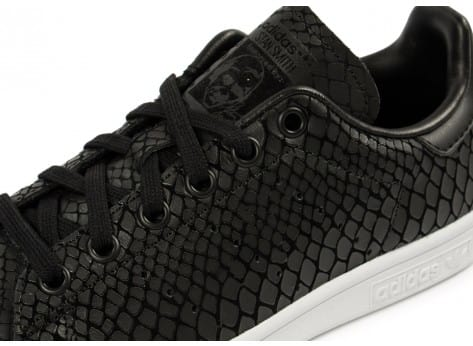 Chaussures adidas Stan Smith Snake noire vue dessus