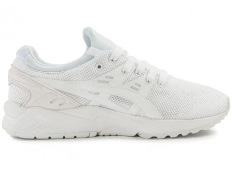 Chaussures Asics Gel Kayano Trainer Evo F blanche vue dessous