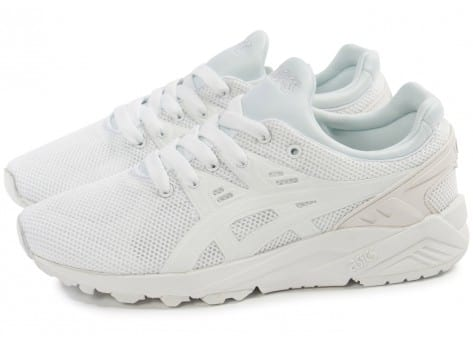 Chaussures Asics Gel Kayano Trainer Evo F blanche vue extérieure
