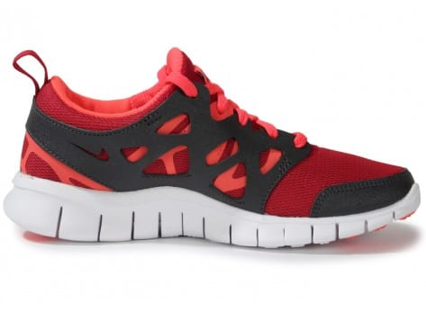 uk availability dd1b2 00f14 ... prix de air max one - Nike FREE RUN 2 JUNIOR ROUGE ET NOIR - Chaussures  ...