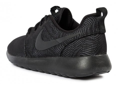 Chaussures Nike Roshe One Moire noire vue arrière